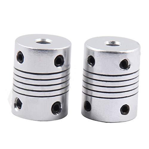Basic Cellphone Cases Cnc Parts Coupler Aluminium for CNC Motor Jaw Shaft Coupler 5mm To 8mm Flexible Coupling OD 19x25mm (Inner Diameter : 5x5)