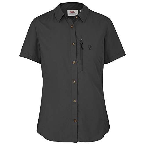 FJÄLLRÄVEN Damen Abisko Hike Shortsleeve Shirt, Dark Grey, L