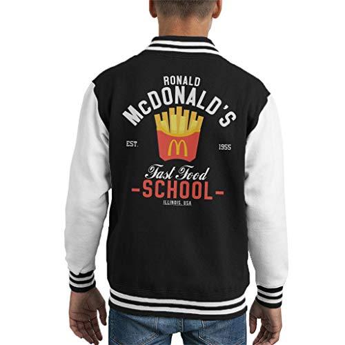 Cloud City 7 Ronald McDonalds Fast Food School Kid's Varsity Jacket