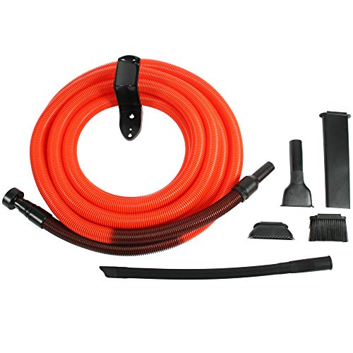 Centec Systems 93554 Shop Vacuum Garage Kit, 30 Ft. Hose, Orange/Black
