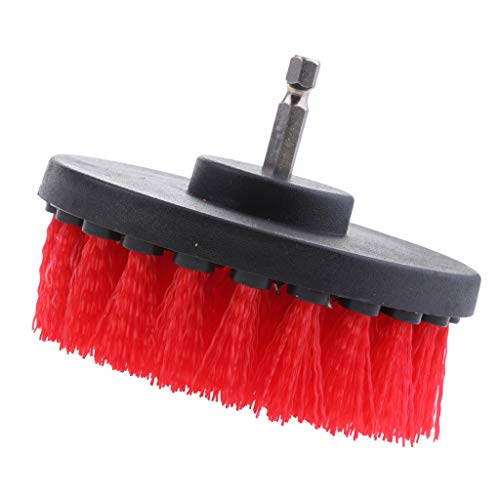 Find Bargain Baoblaze 1Pc Tile Grout Drill Brush Power - Red Thick Brush 4inch