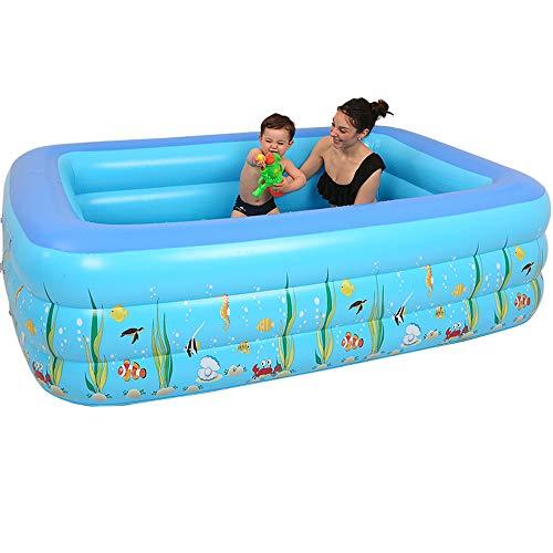 Piscine gonflable, baignoire épaissie en PVC pour adultes pour enfants, baignoire pliable, baignoire pour adultes, piscine de loisirs, bleue (Size : 130cm, Style : A)