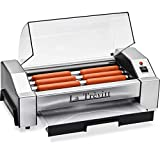 La Trevitt Hot Dog Roller- Sausage Grill Cooker Machine- 6 Hot Dog...