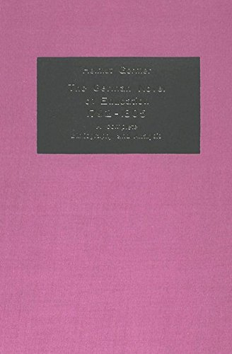 The German Novel of Education 1792-1805: A Complete Bibliography and Analysis (German Studies in America)