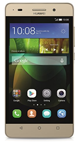 Huawei G Play Mini Smartphone (12,7 cm (5 Zoll) IPS-Display, Octa-Core-Prozessor, 13 Megapixel-Kamera, 8 GB interner Speicher, Dual-SIM, Android 4.4) gold