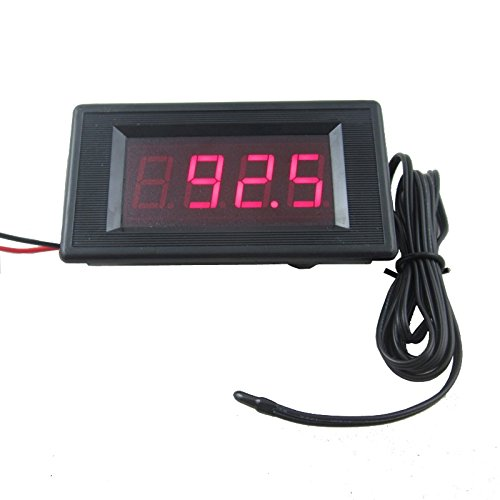 DIGITEN 12V Red Digital Fahrenheit degree Thermometer High Low Alarm -76-257F Temperature