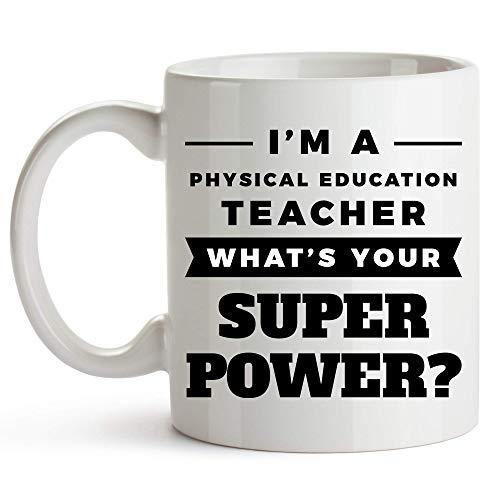 DJNGN Taza para profesores de educación física, 11 onzas, divertida taza de café para profesores de educación física