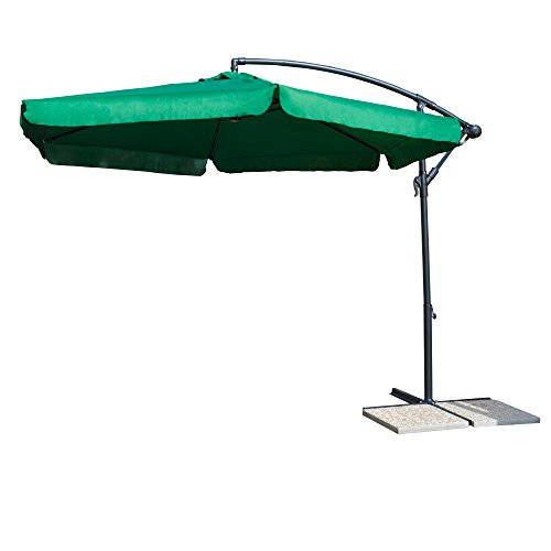 ombrellone da giardino verdelook VERDELOOK Ombrellone a Braccio in Poliestere 3x3 m
