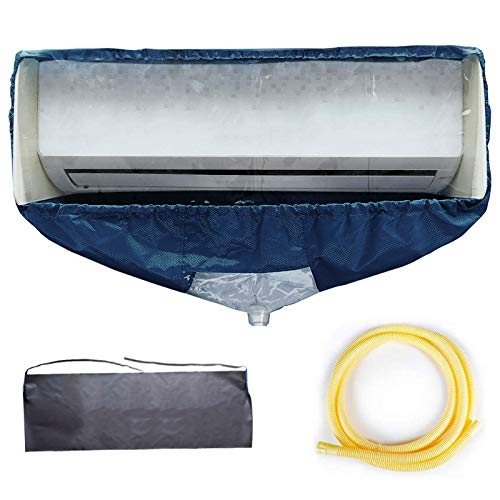 WOMACO Split Air Conditioner Cleaning Cover Cleaning kit Wall Mounted Air Conditioning Cleaner Kit Dust Washing Clean Bag Aircon Wash Bag Waterproof with Drain Outlet and Support Plates (Large)