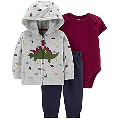 Carter's Baby Boys' Cardigan Sets (Newborn, Multi/Dinosaur)