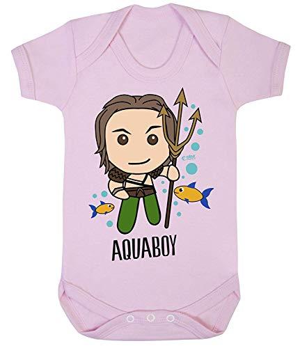 Colour Fashion Aquaboy Superhéros Imprimé Bodys Bébé Costume Hypoallergénique 100% Coton - Rose, Newborn