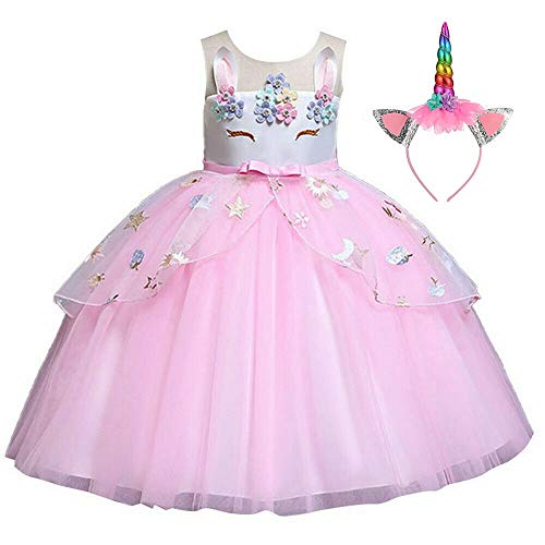 Disfraz Unicornio Niña, Vestidos Unicornio niña, Fiesta de Cosplay, Boda, Partido,Vestido De...