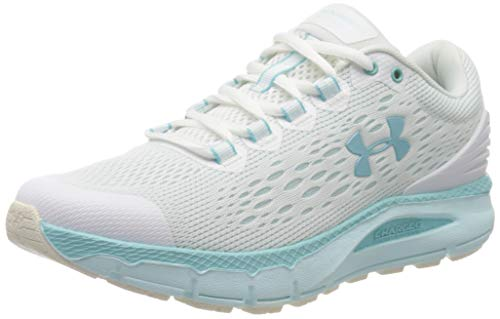 Under Armour UA W Charged Intake 4, Zapatillas de Running Mujer, Blanco (White/Rift Blue/Blue Haze), 38 EU