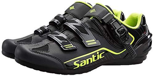 [サンティック] 自転車 ビンディング シューズ ロードバイク ノンロック メンズ 超軽量 初心者 2A ブラック 25.5 cm 2A