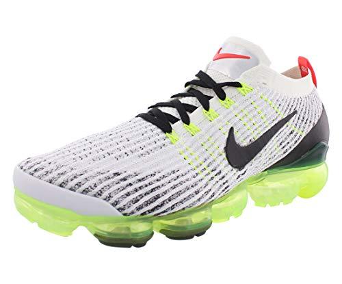 Nike Air Vapormax Flyknit 3, Scarpe da Atletica Leggera Uomo, Multicolore (White/Black/Volt/Bright Crimson 000), 44 EU