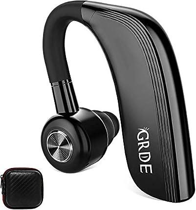 GRDE Auriculare Inalámbricos, Siri Manos Libres Bluetooth Auricular In-Ear con 25 Horas de Tiempo de Conversación HD Micrófono Cancelación de Ruido para Smartphone Business y Driving