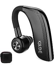 Auricolare Bluetooth Cuffia Bluetooth Wireless Mono con Microfono HD, 25 Ore di Conversazione o 22 Ore di Riproduzione, Ruotabile 180°, Supporto Siri, Riduzione del Rumore, per Lavoro o Guida