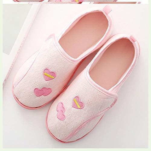 Extra brede, gezellige antislip huisschoenen,Postpartum tas hiel opsluiting schoenen, dikke onderkant dunne sectie moederschoenen-37_Pink,Diabetische wandelschoenen voor heren Ademende sneakers