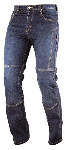 A-pro Motor Bike Denim Jeans Pants kèvlar Lined–Pantalones Moto CE brazo Ours Blue 30