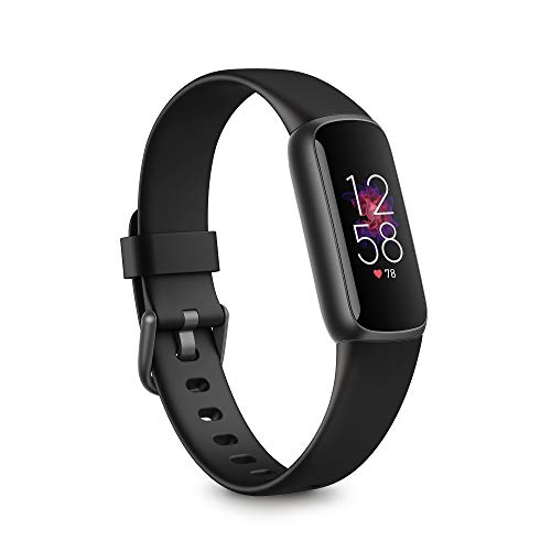 Fitbit Luxe Fitness and Wellness Tracker with Stress Management, Sleep Tracking and 24/7 Heart Rate, Black/Graphite, One Size (S & L Bands Included)