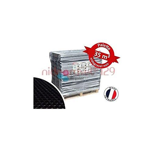 Palet estabilizador de grava negra 2,9 cm (35,52m2)