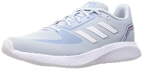 adidas Runfalcon 2.0, Sneaker Mujer, Halo Blue/Footwear White/Dash Grey, 39 1/3 EU