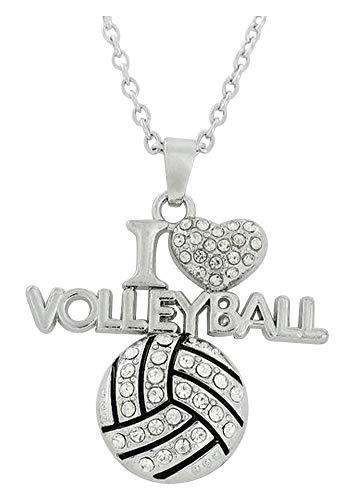 Unbekannt Générique Halskette Anhänger Ballon Volleyball I Love Volleyball