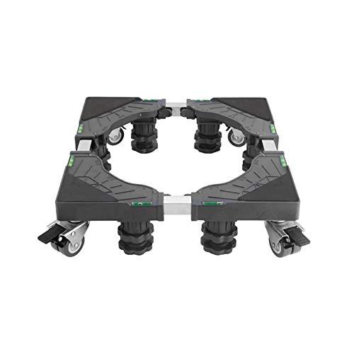 Sdesign Rodillo de Base móvil, refrigerador Multifuncional Base móvil Lavadora Movible Trolley Stand con Ruedas con Llave y pies Fuertes para Mover electrodomésticos
