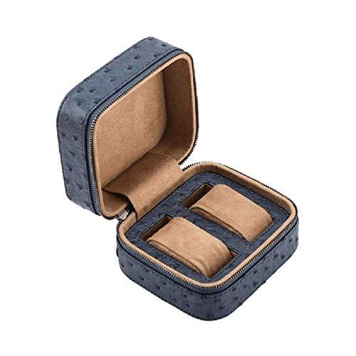 WHZG Caja joyero Reloj Box Single Slot PU Reloj de Pulsera de Cuero Pulsera Pulsera Holder Holder Organizador de Almacenamiento con cojín para Hombres Mujeres Organizador Joyas (Color : Blue)