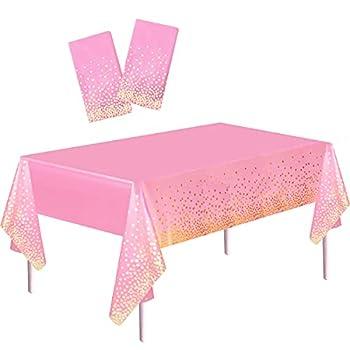 gold glitter plastic tablecloth