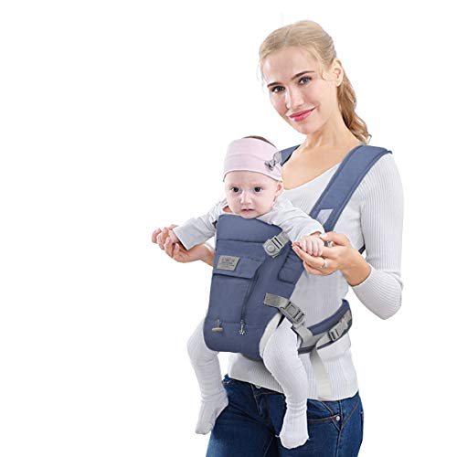 "FRUITEAM Baby Carrier, Easy to Wear, ""X"" Cross Strap Baby Carrier, More Suitable for Newborn Babies, Baby Carrier for Take Care of Baby's Growth (Eveningmist Blue)"