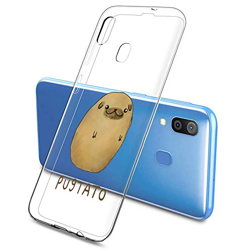 Suhctup Funda Compatible con Samsung Galaxy S20 Ultra,Transparente Carcasa con Dibujos Animados TPU Silicona Protectora de Golpes Anti Choques Slim Case Cover Bumper para Galaxy S20 Ultra(10)