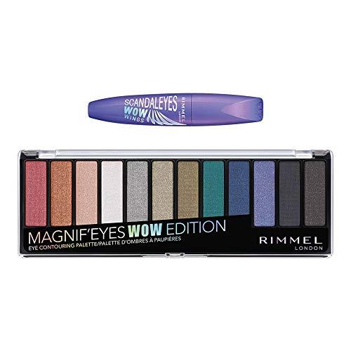 Rimmel Magnif'eyes Makeup Kit With Eyeshadow and Eyeliner, Wow