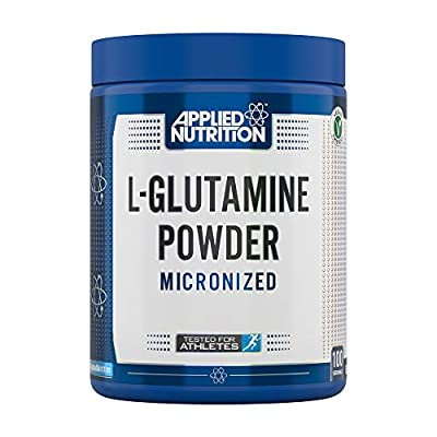 Applied Nutrition L-Glutamine Micronized Powder, Optimum Muscle Strength & Recovery Glutamine, Boosts Immune System, Amino Acid, Unflavoured - Vegan, Halal, Gluten Free, 500g - 100 Servings
