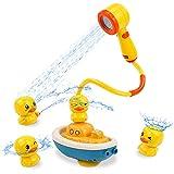 Juguetes Bañera Alcachofa de Ducha con 4 Patos Juguetes Baño Piscina Bebe Juegos Piscina Regalo para Bebe Niños Niñas 3 4 5 Años