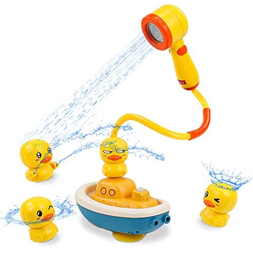 Juguetes Bañera Alcachofa de Ducha 4 Patos Juguetes Baño Piscina Bebe Juegos Piscina Regalo para Bebe Niños Niñas 3 4 5 Años
