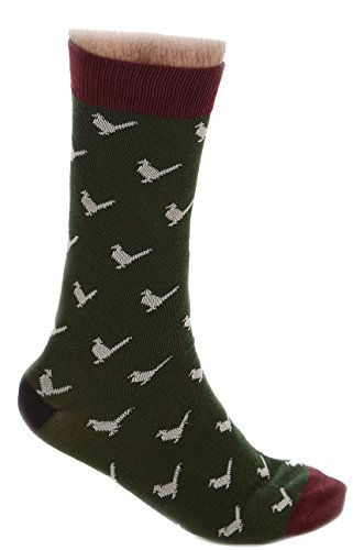 Sherwood Forest Burland Chaussettes Homme, Rust/Swan/Midnight, Size 6-8