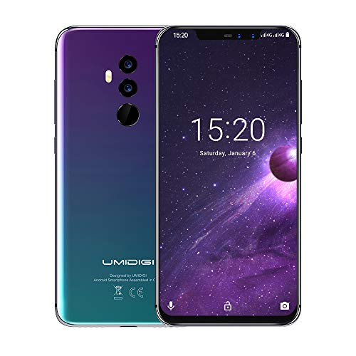 UMIDIGI Z2 6.2' FullView Display(19:9 Ratio)- 64GB ROM+6GB RAM Unlocked Cell Phone - Dual Sim 4G Volte Unlocked Smartphone -16MP+8MP Dual Camera - 3850mAh Battery -Android 8.1 Cellphone (Twilight)
