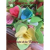 Flores de Oblea Papel de Arroz - Decoraciones Repostería - 16 Unidades Surtidas de Colores