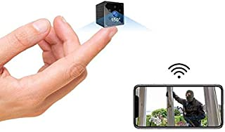 Mini Spy Camera 4K Wireless Hidden Camera Portable HD WiFi Nanny Cam with Night Vision and Motion Detection Smallest Secur...