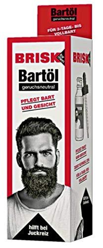 Bartöl geruchsneutral - pflegt Bart & Gesicht, hilft bei Juckreiz, für alle Bärte - 50 ml