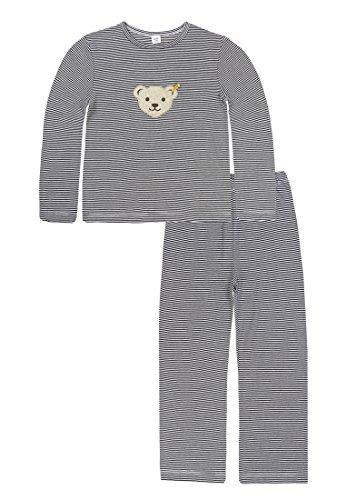 Steiff Steiff Mädchen Schlafanzug, Blau (Marine 3032), 6 Jahre (Herstellergröße:116)