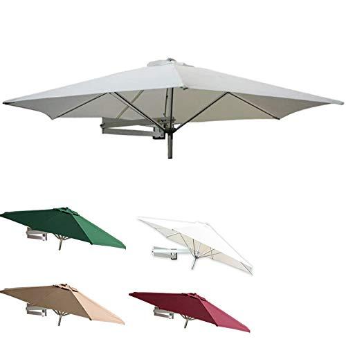 Sombrilla Parasol para Jardin Terraza 7/8 Pies 95 + Resistente A Los Rayos UV Sombrillas Para Patio, Sombrillas Retráctiles De Montaje En Pared Para Exteriores, Jardín, Balcón, Patio, Puerta, Terraza,