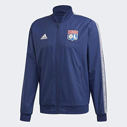 adidas Herren Olympique Lyonnais Anthem Jacke, Dark Blue/White, XL