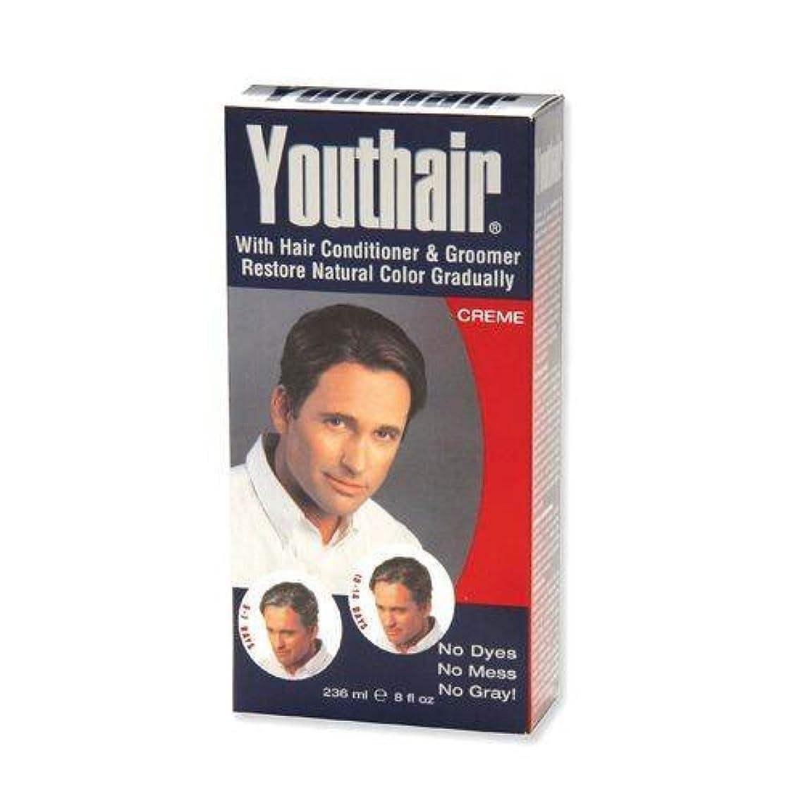 武器麻痺させる知覚的YOUTHAIR Creme for Men with Hair Conditioner & Groomer Restore Natural Color Gradually 8oz/236ml by Youthair
