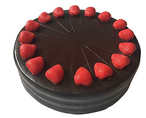 ERRO Tarta de chocolate de fresa falsa de plástico – 2ª elección, imitación de plástico como accesorio teatro.