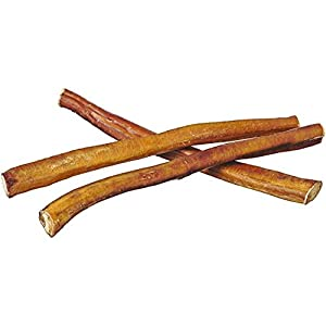 Pawstruck 12″ Straight Bully Sticks for Dogs or Puppies | All Natural & Odorless Bully Bones | Grass-Fed Beef | Medium Thickness Long Lasting Dog Chew Dental Pizzle Treats | Best Thick Bullie Stix