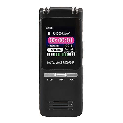 """Topiky Grabadora de Voz Digital USB,Reproductor de MP3 Portátil de 8GB con Pantalla LCD de 1.44"""",Caja de Metal,Soporte de Repetición A/B/Grabación Automática,para Entrevistas,Reuniones,Conferencias"""