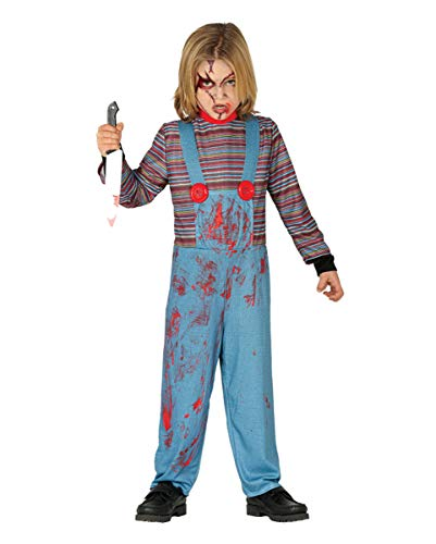 Horror-Shop Böse Mörderpuppe Kinder Kostüm für Halloween und Karneval M