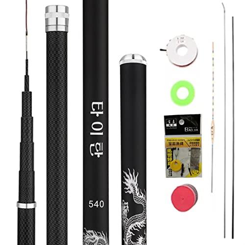 Pole de pesca de agua dulce de alta fibra de carbono Pole Telescópico Varilla de pesca Super Luz Hard 3. 6m4.5m5.4m6.3m7.2m8m9m10m Barra de arroyo de mano herramienta de pesca al aire libre accesorios